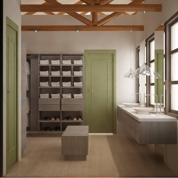 CASA VILLA DE LEYVA: Baños de estilo  por santiago dussan architecture & Interior design