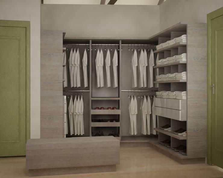 CASA VILLA DE LEYVA: Vestidores de estilo ecléctico por santiago dussan architecture & Interior design