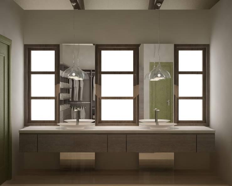 CASA VILLA DE LEYVA: Baños de estilo ecléctico por santiago dussan architecture & Interior design