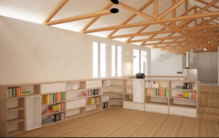 CASA VILLA DE LEYVA: Estudios y despachos de estilo  por santiago dussan architecture & Interior design