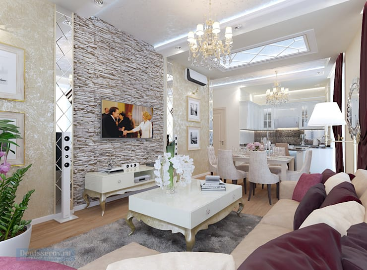Classic style living room by Студия интерьера Дениса Серова Classic