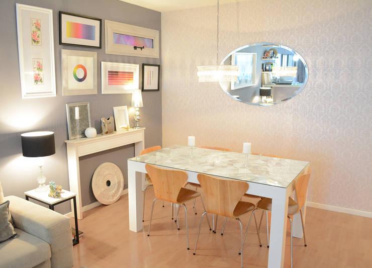 Comedor Monoambiente/ Studio Apartment:  de estilo  por Estudio Nicolas Pierry