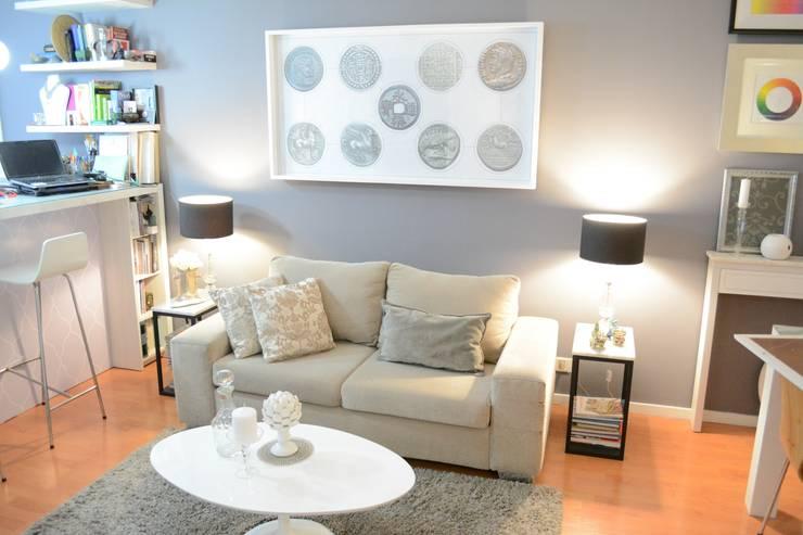 Living Monoambiente/ Studio Apartment:  de estilo  por Estudio Nicolas Pierry