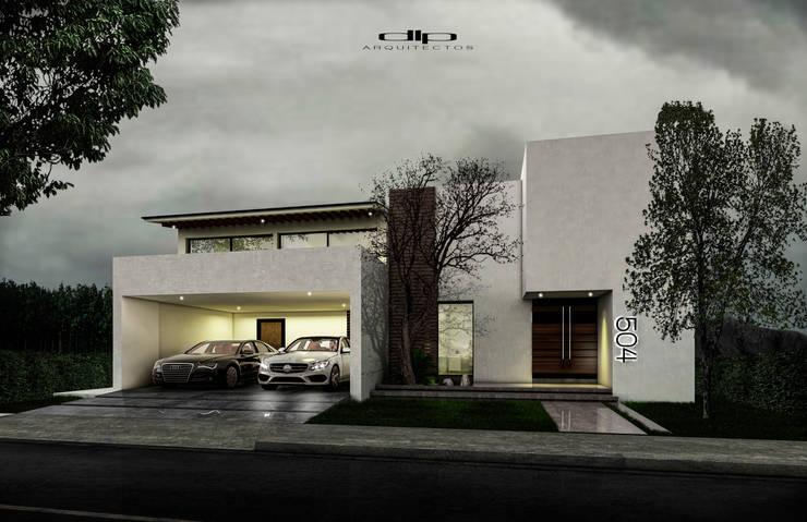 FACHADA CASA.V-H: Casas de estilo  por dlp Arquitectos