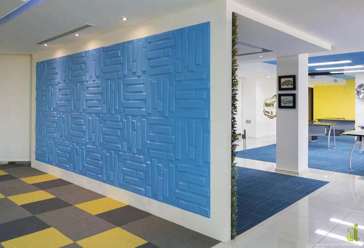 Muro 3D - WallArt: Oficinas y tiendas de estilo  por arQing