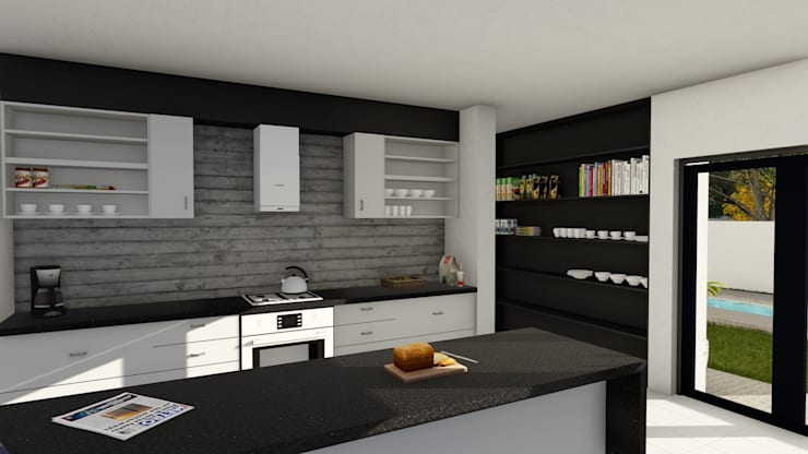 Midstream :  Kitchen by Ellipsis Architecture, Modern Wood Wood effect