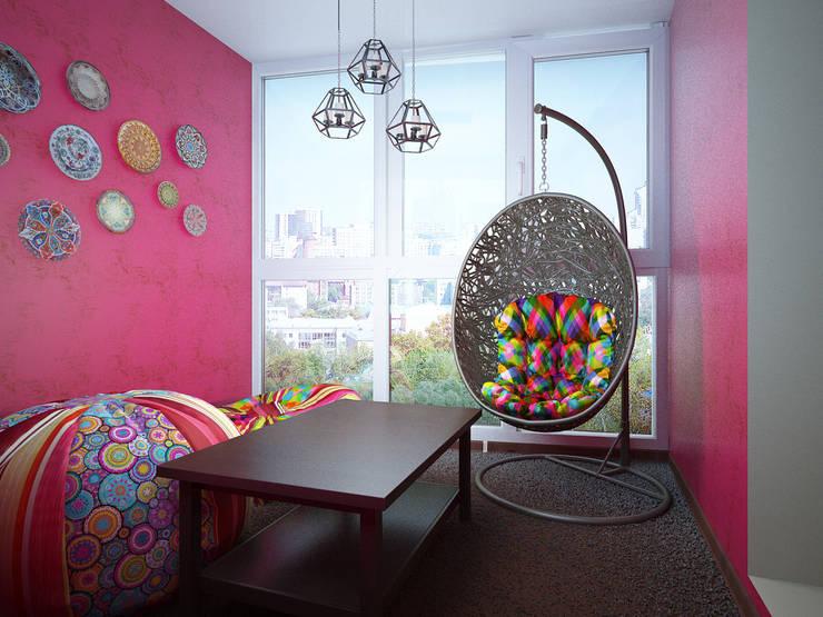 بلكونة أو شرفة تنفيذ ARTWAY центр профессиональных дизайнеров и строителей