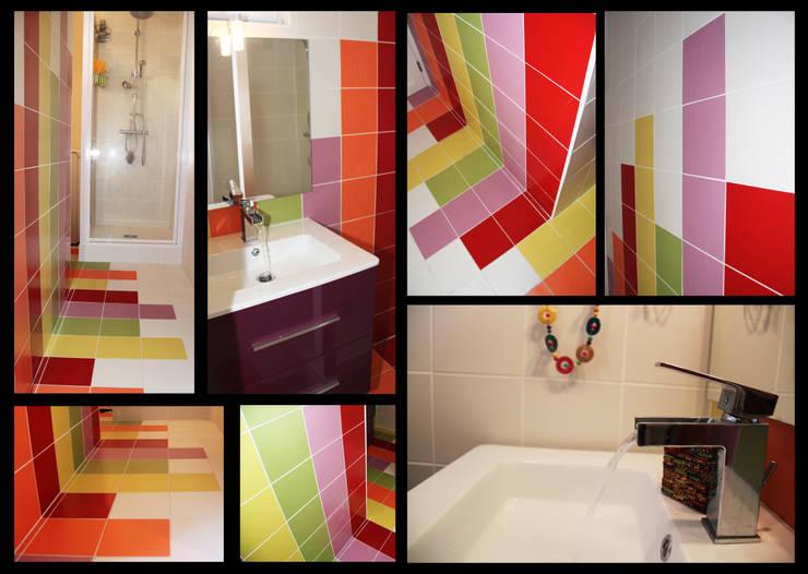 Rénovation d'un chalet à Lyon: Salle de bains de style  par Koya Architecture Intérieure