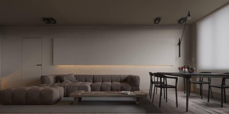 Projekty,  Salon zaprojektowane przez IGOR SIROTOV ARCHITECTS