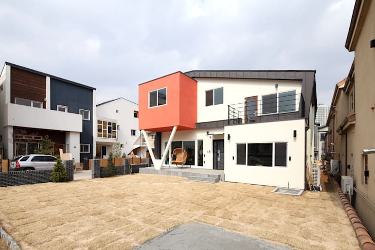 J-HAUS: 지호도시건축사사무소의  주택