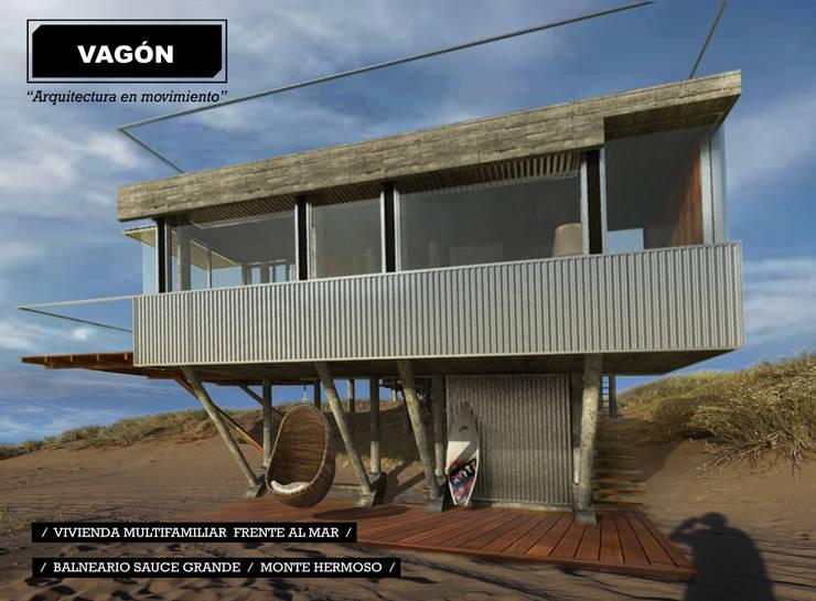 3 casas frente al mar: Casas de estilo  por juan olea arquitecto,
