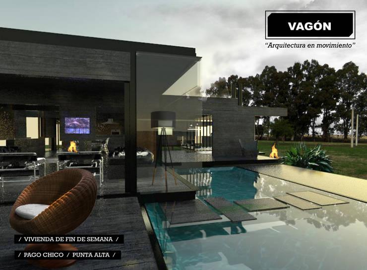 Casa de fin de semana para Damián y Walter Punta Alta: Casas de estilo  por juan olea arquitecto
