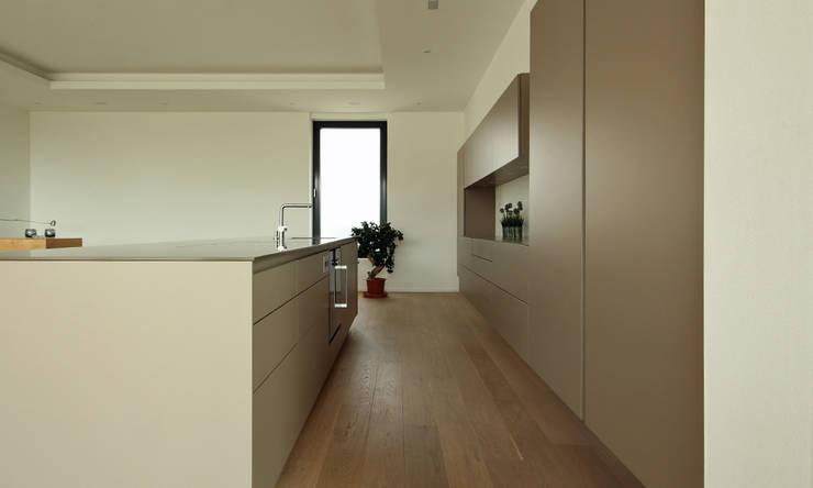 Küche als Wohnmöbel: modern  von Beer GmbH,Modern Holzwerkstoff Transparent