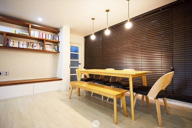 Projekty,  Salon zaprojektowane przez 제이앤예림design