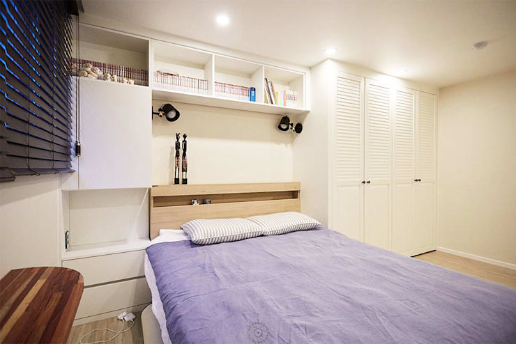 Dormitorios de estilo escandinavo por 제이앤예림design