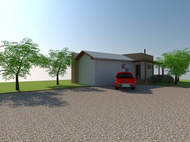 Estacionamiento y Acceso:  de estilo  por Arquitectura y Construcción Chinquel