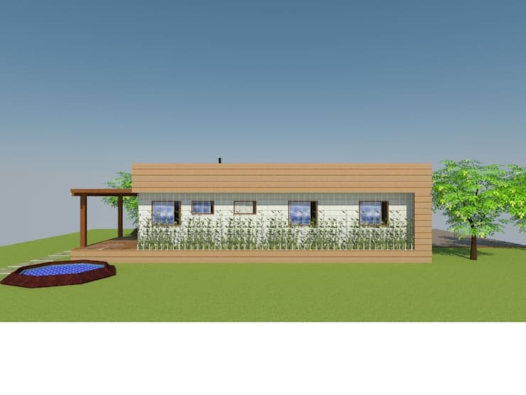 Fachada Frontal:  de estilo  por Arquitectura y Construcción Chinquel