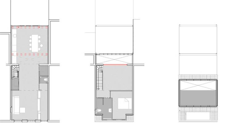 plattegronden na verbouwing:   door architectenbureau Huib Koman (abHK)