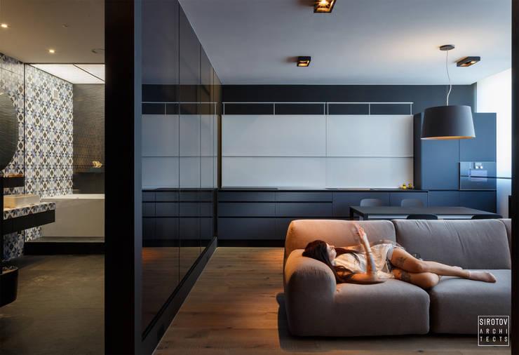 Livings de estilo  por IGOR SIROTOV ARCHITECTS