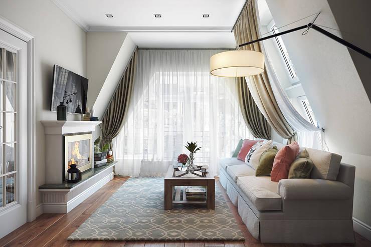eclectic Living room by Дарья Баранович Дизайн Интерьера