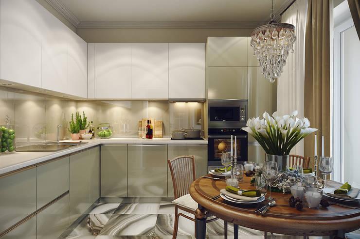 eclectic Kitchen by Дарья Баранович Дизайн Интерьера