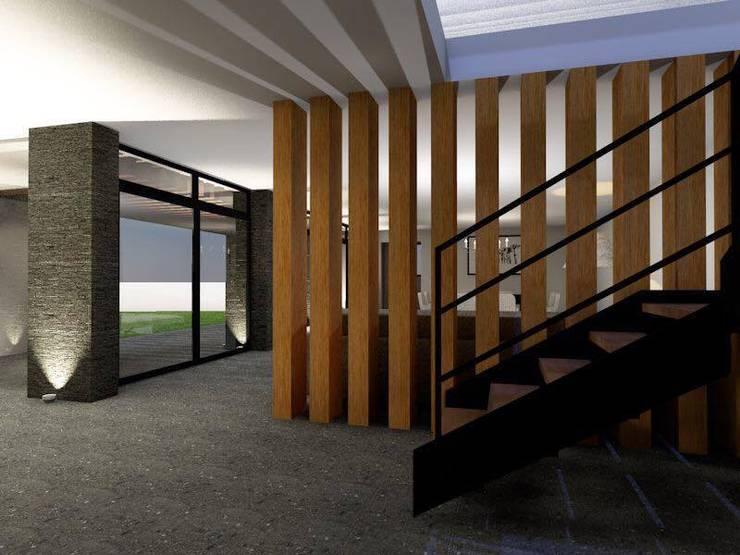 Diseño Oficinas Modernas: Oficinas y tiendas de estilo  por casas eco constructora