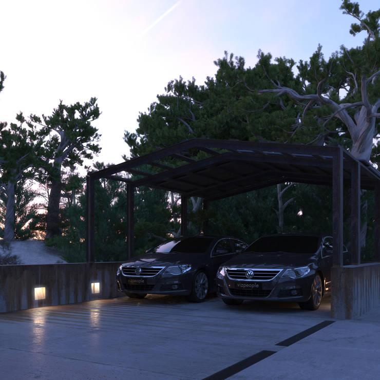 Nhà để xe/Nhà kho by IGOR SIROTOV ARCHITECTS