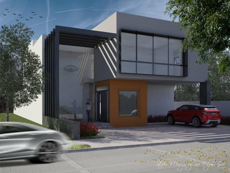 Casa Virreyes: Casas de estilo  por Studio 3Design