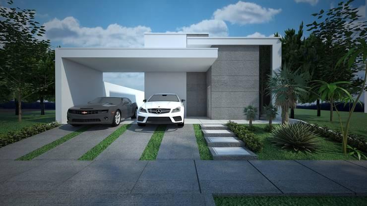 Projeto residencial com 80 metros quadrados: Casas modernas por Construtora Lima Projetos