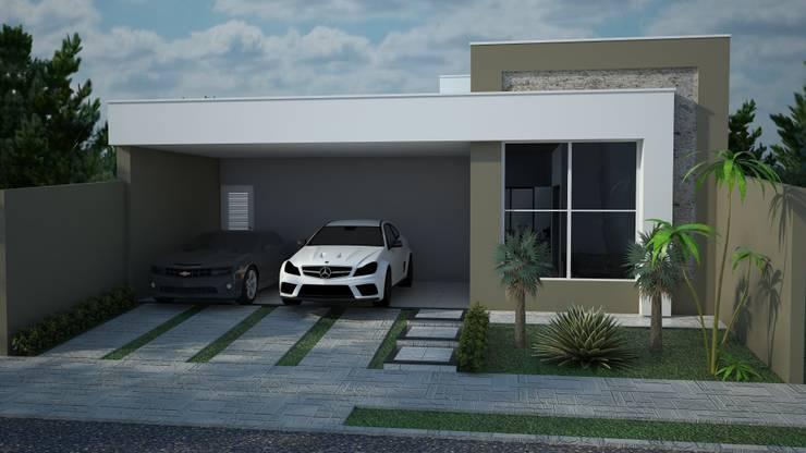 Casas de estilo moderno por Construtora Lima Projetos