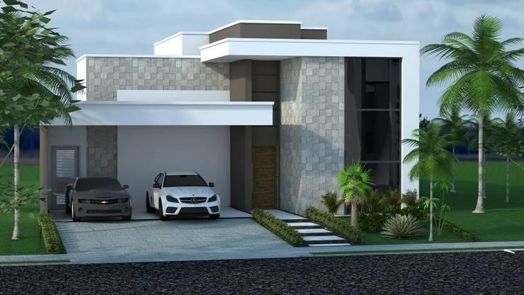 31 projetos 3d de casas para te inspirar for Casa moderna 7x20