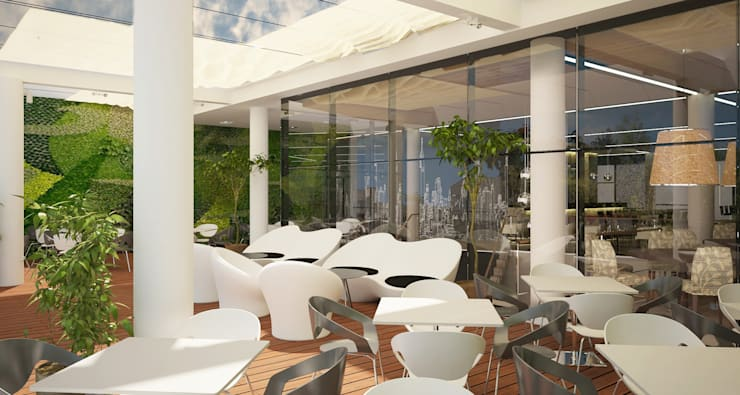 Terraza : Gastronomía de estilo  por Estudio Bono-Sanmartino,