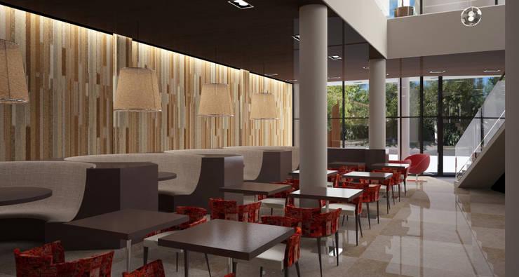 Interior Planta baja: Gastronomía de estilo  por Estudio Bono-Sanmartino,
