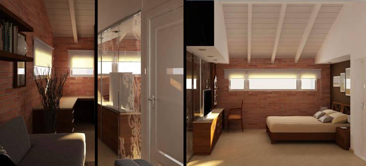 Ampliación PA -Dormitorio principal: Dormitorios de estilo  por Estudio Bono-Sanmartino,