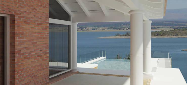 Terraza: Casas de estilo  por Estudio Bono-Sanmartino,