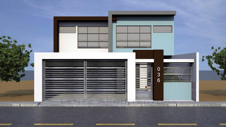 Fachada Principal : Casas de estilo  por Lentz Arquitectura Diseño y Construcción