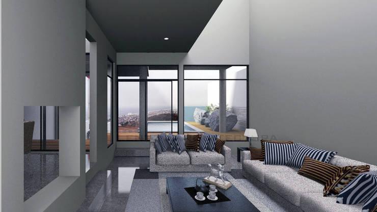 Vista Sala : Salas de estilo  por Lentz Arquitectura Diseño y Construcción