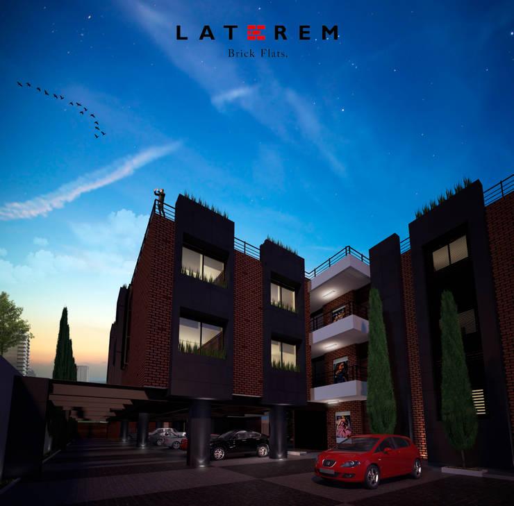 Estacionamiento Techado: Garajes de estilo  por Del Castillo Arquitectos