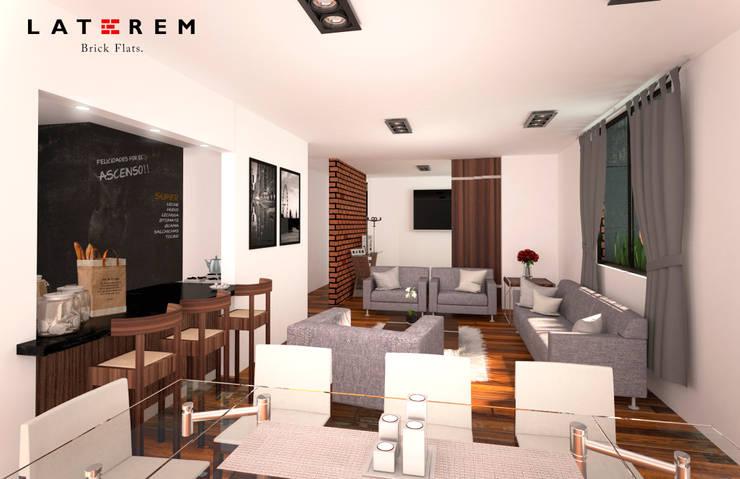 Interior: Comedores de estilo  por Del Castillo Arquitectos