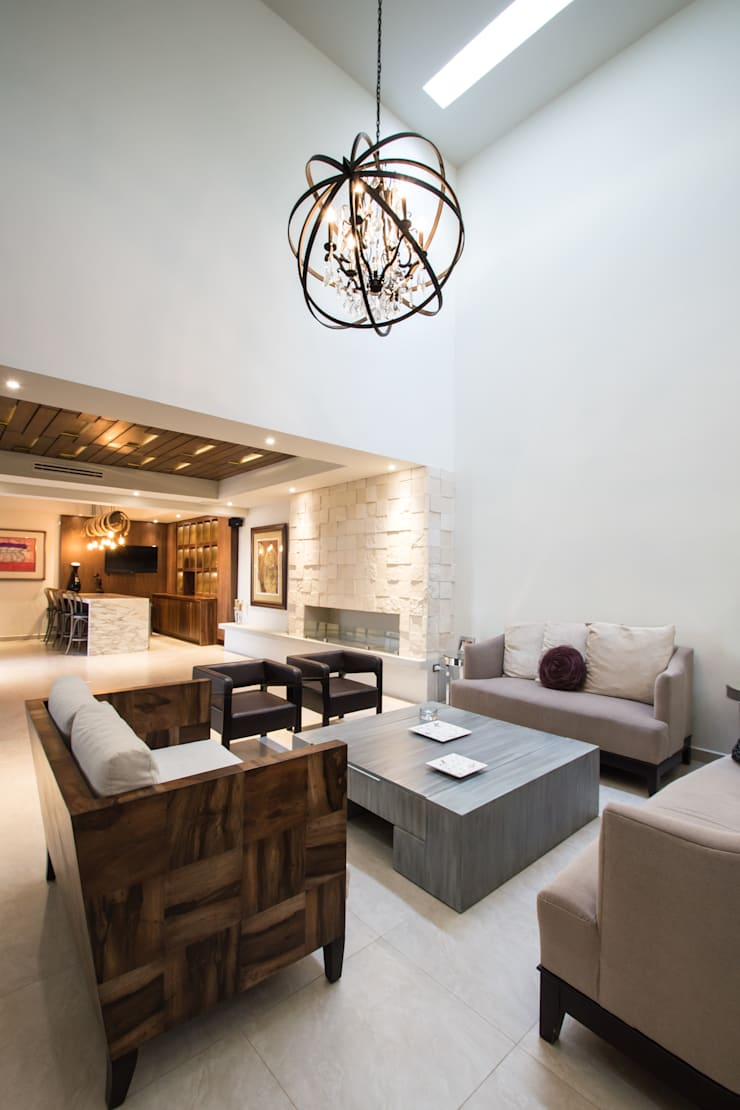 modern Living room by TAMEN arquitectura