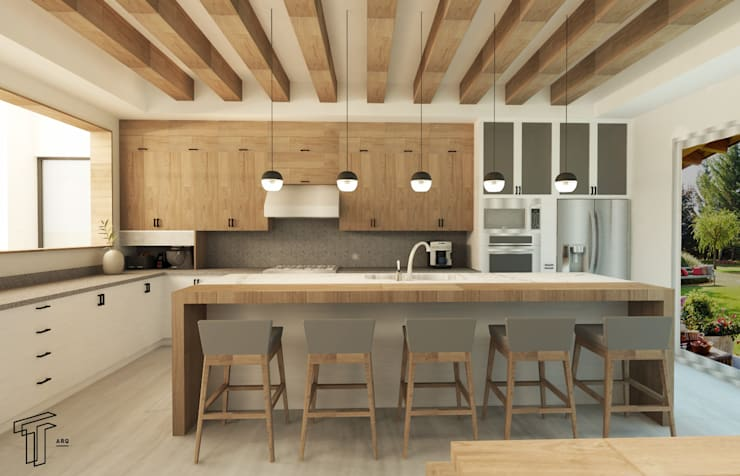Kitchen by TAMEN arquitectura