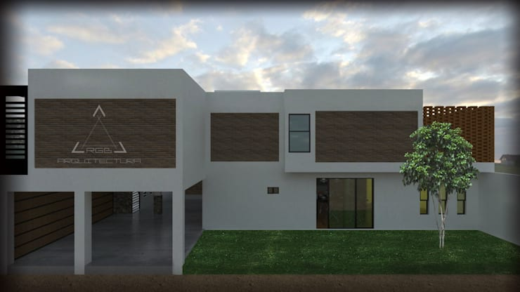 FACHADA LATERAL:  de estilo  por RGB - Arquitectura