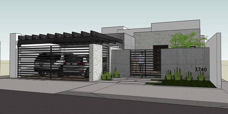 casa Nueva: Casas de estilo  por MARCELA MORA; Arquitectura e Interiores