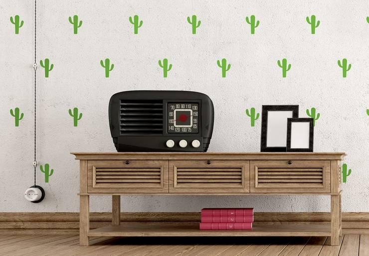 Wandtattoo Kaktus Set 2: modern  von K&L Wall Art,Modern Kunststoff Braun