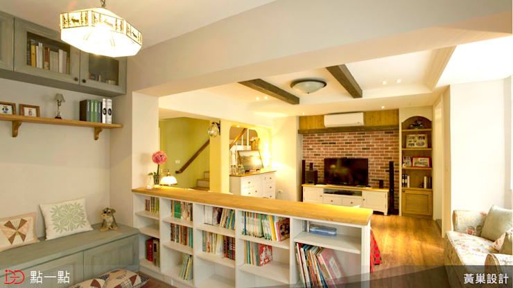 黃巢空間設計:  客廳 by iDiD點一點設計