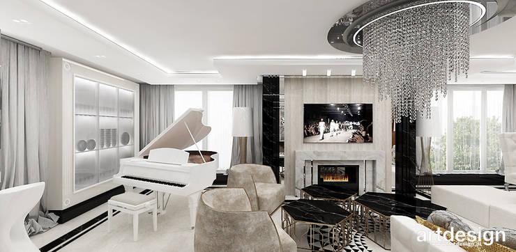 Salon Inspiracje Wnętrz من تنفيذ Artdesign Architektura Wnętrz هوميفاي