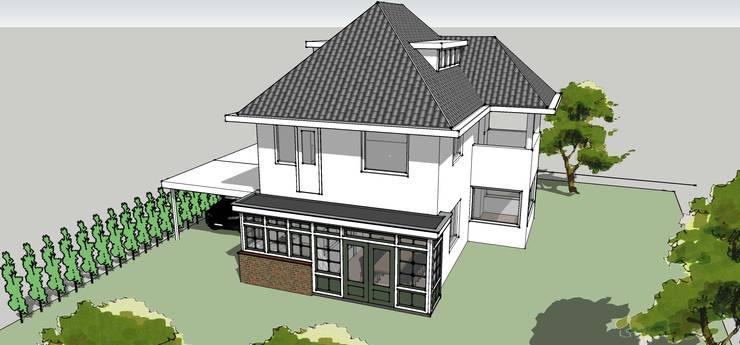 Uitbreiding woonkamer en keuken:  Huizen door De E-novatiewinkel, Klassiek Hout Hout