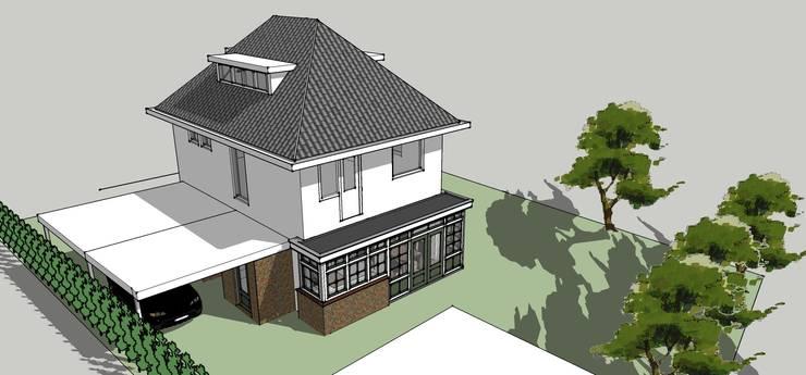 Uitbreiding keuken en bijkeuken:  Huizen door De E-novatiewinkel, Klassiek Hout Hout