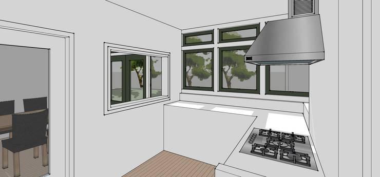 Keuken/tuin:  Keuken door De E-novatiewinkel, Klassiek Hout Hout