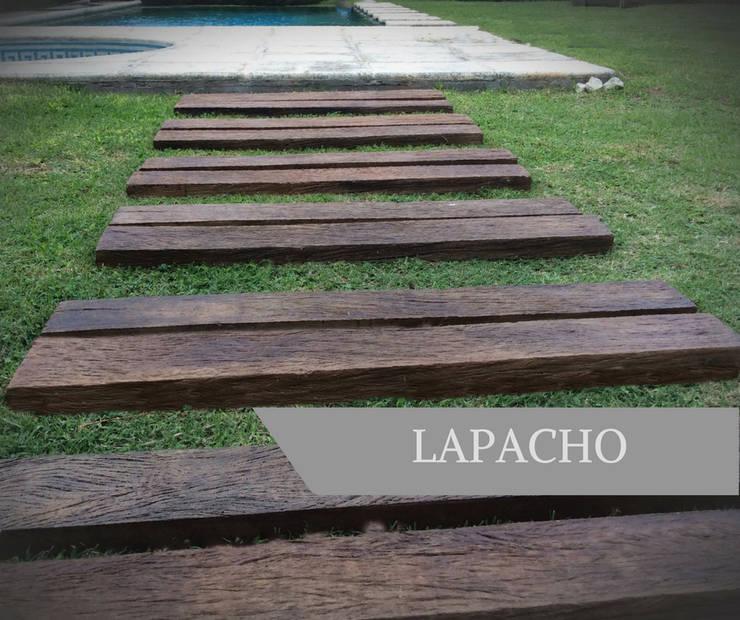 LAPACHO DURMIENTE: Paredes y pisos de estilo  por AG Outdoor Design